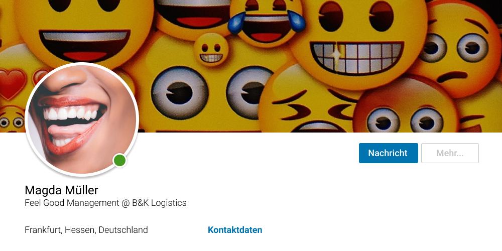 Beispiel für ein negatives LinkedIn Profilfoto